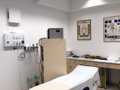 Novaerus plazmatechnológiás légtisztító a budapesti Uzsoki Utcai Kórház bronchoscopiai kezelőjében