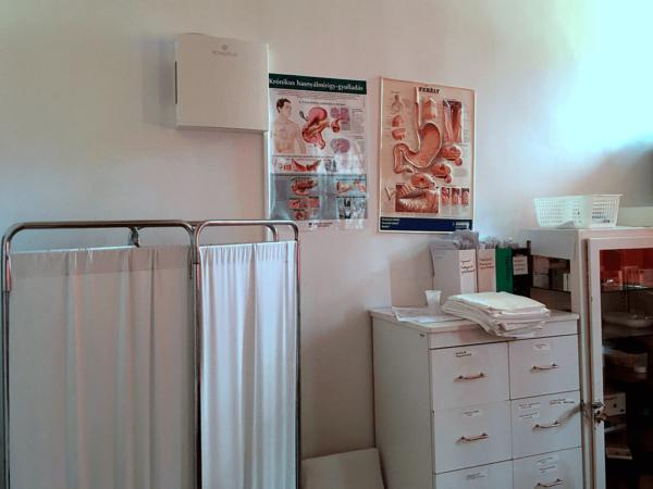 Novaerus plazmatechnológiás légtisztító a Dombóvári Szent Lukács Kórház gasztroenterológiai kezelőjében