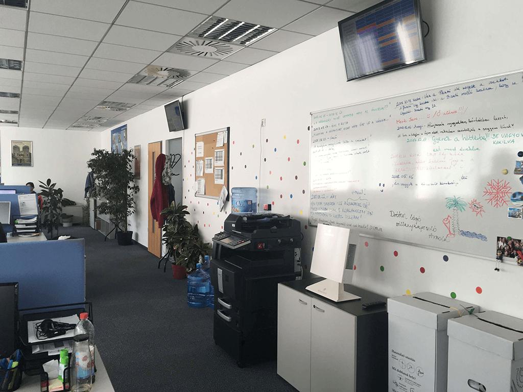 Novaerus plazmatechnológiás légtisztító a SIGNAL IDUNA Biztosító Zrt. irodájában