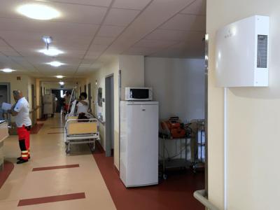 Novaerus plazmatechnológiás légtisztító a miskolci Borsod-Abaúj-Zemplén Megyei Központi Kórház szeptikus részlegén
