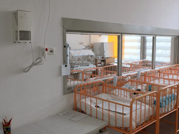 Novaerus plazmatechnológiás légtisztító a karcagi Kátai Gábor Kórház újszülött osztályán