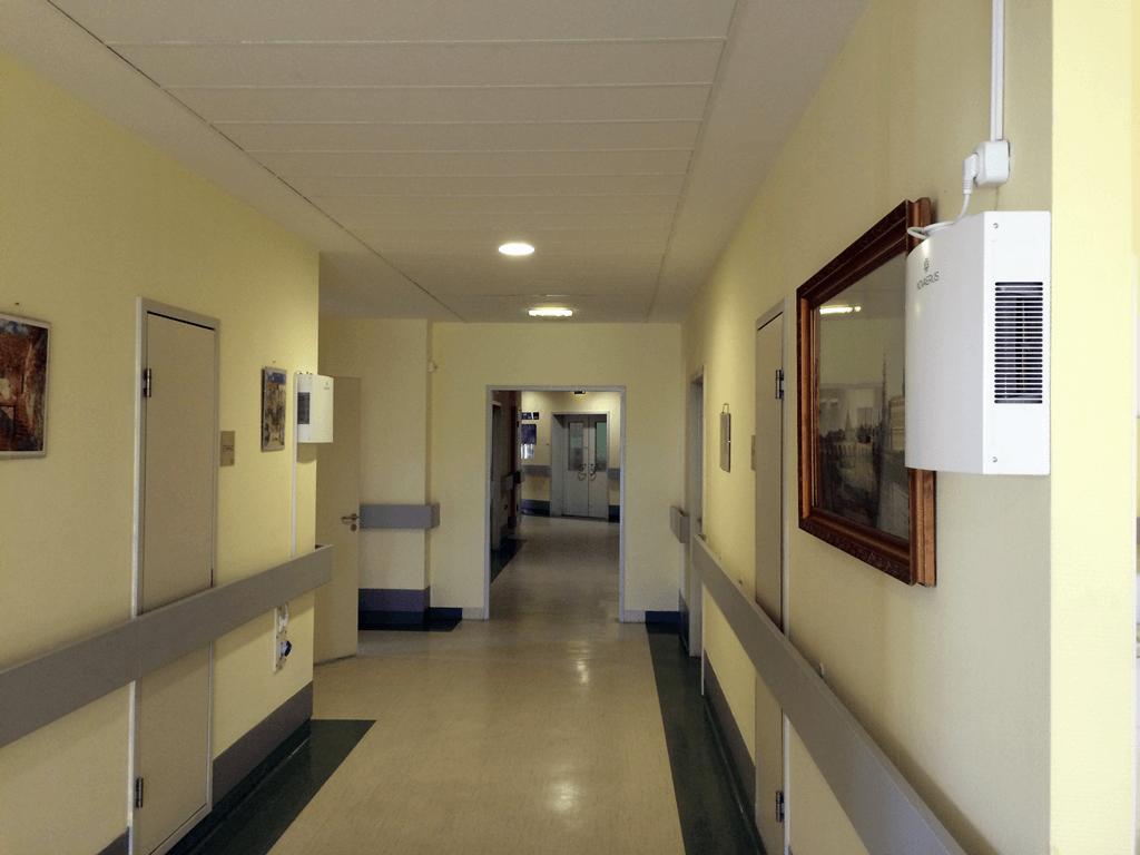 Uzsoki Utcai Kórház tüdőosztály folyosó
